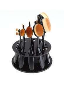 Sostenedor de brochas maquillaje 10 - negro
