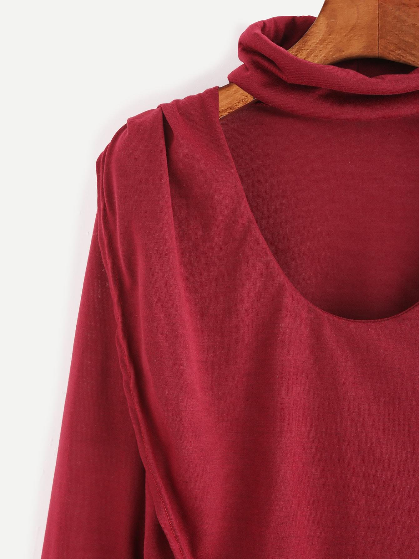 T shirt avec dentelle la base encolure ras du cou for Interieur paupiere inferieure rouge