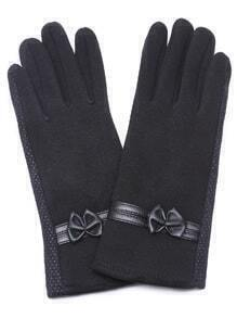 Black Non-slip Suede Leather Gloves