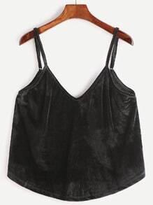 Black Velvet Cami Top