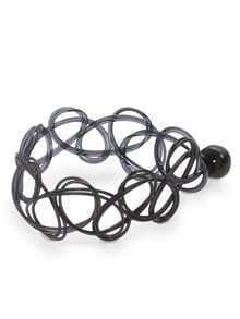 Black Line-winding  Simple Rings