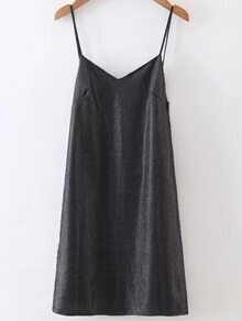 Black Open Back Cami Dress