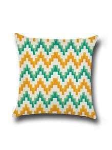 Chevron Pattern Minimalist Linen Cushion Cover