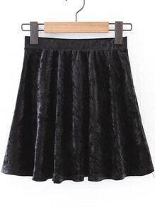 Cute Velvet A Line Skirt