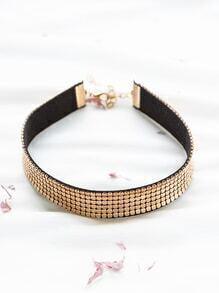 Gold Studded Punk Choker Necklace