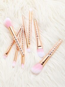 Set de cepillos de maquillaje 8pcs - rosa dorado