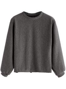 Dark Grey Ribbed Sweatshirt