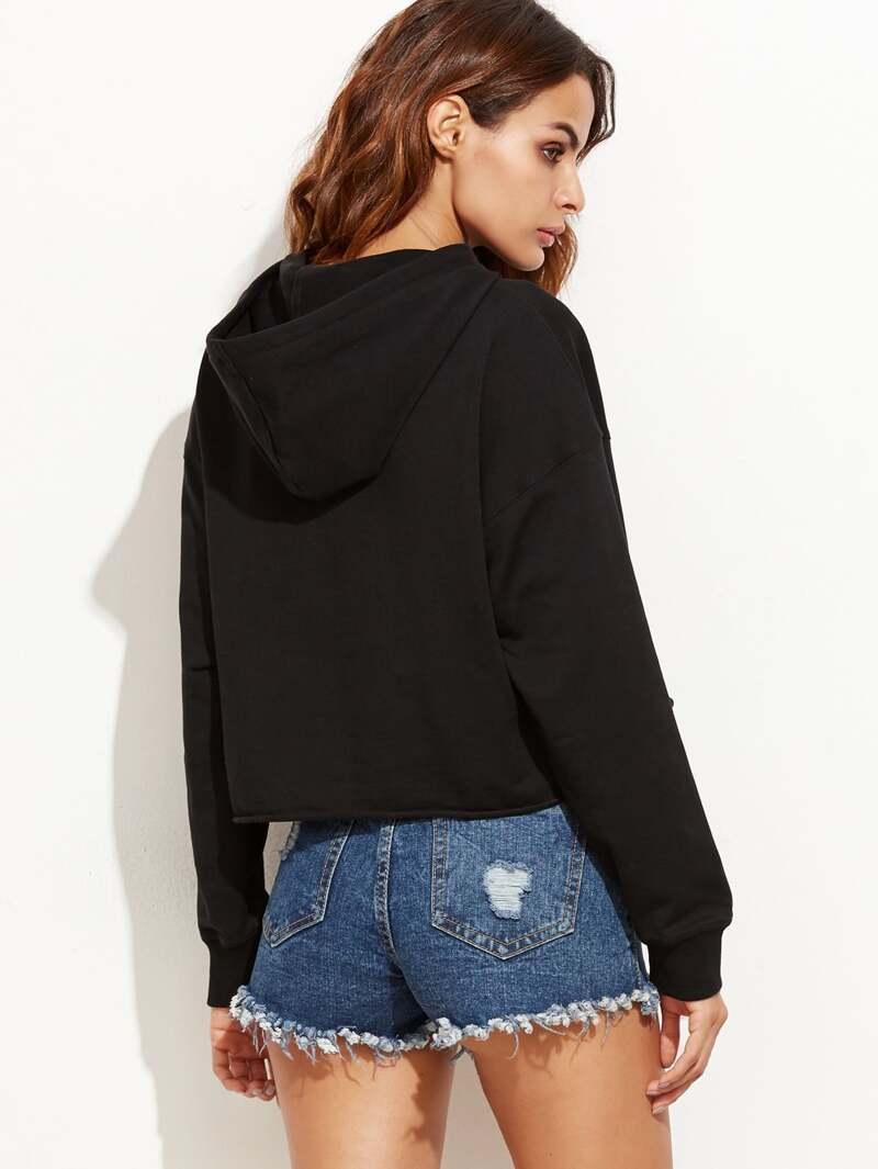 Capuche Soleil Et Sweat Shirt Avec Imprimé Noir Lune F1JT3uclK