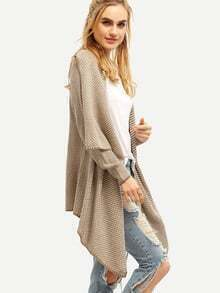 Apricot Long Sleeve Asymmetric Sweater