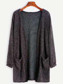 Dark Grey Fuzzy Cardigan