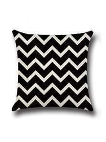 Black And White Chevron Print Cushion Cover
