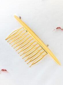 Oro minimalista peine del pelo