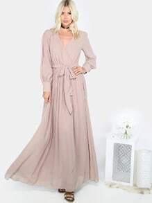 Vestido Maxi Vestido Caqui Flowy