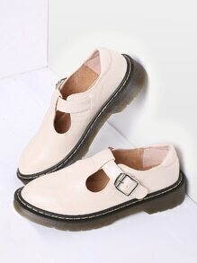 Apricot Mary Jane PU Flats