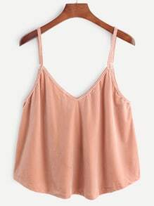 Pink Velvet Swing Cami Top