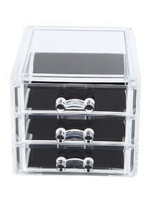 3 Layers Clear Make Up Storage Case