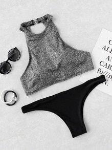 Halter Ausschnitt Mix & Match Bikini Set