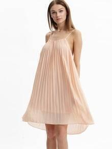 vestido tirantes plisada-crudo