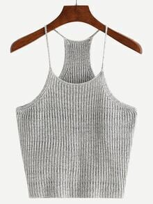 Grey Spaghetti Strap Tank Top