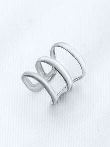 Silver Hollow Out Delicate Ear Cuff
