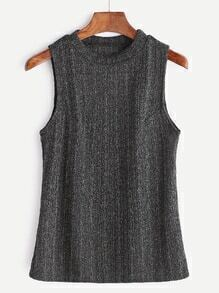 Dark Grey Sleeveless Tank Top