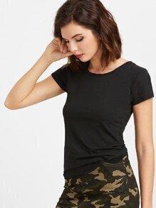 Black Lattice Back T-shirt