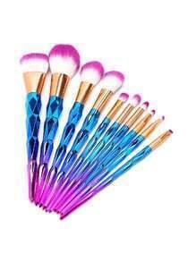 Multicolor Makeup Brush Set