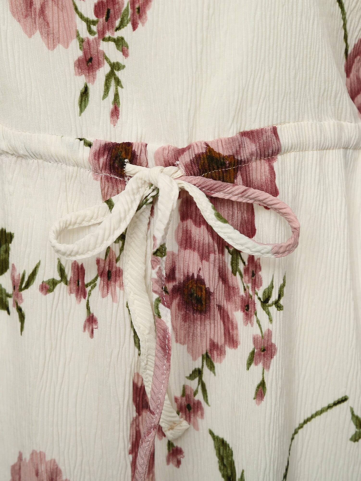 Rouge et blanc de l 39 paule floral jumpsuit french romwe for Interieur paupiere inferieure rouge