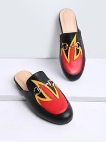 Chanclas color block - negro