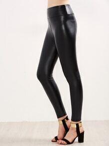Leggings en similicuir - noir