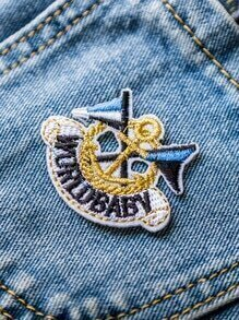 Multicolor Embroidered Anchor Patch