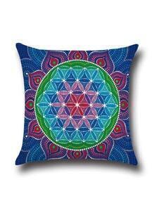 Blue Sunflower Pattern Pillowcase Cover