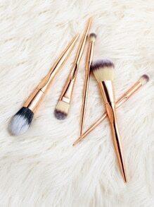 Set cepillo de maquillaje profesional 5pcs - rosa dorado