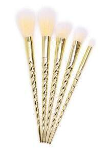 Gold Screw Handle Makeup Brush Set