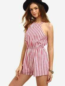 Multicolor Sleeveless Vertical Striped Jumpsuit