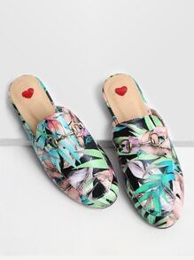 Loafer con estampado de hoja - multicolor