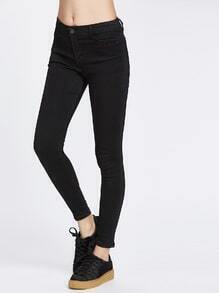 Black Low Waist Skinny Jeans