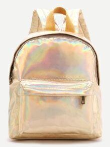Gold Front Pocket PU Rucksack