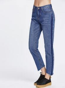 Destroyed Hem Boyfriend Jeans