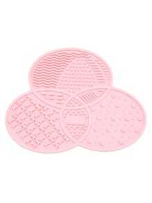 Placa limpiador de maquillaje asimétrica - rosa
