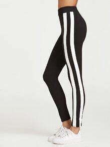 Black Side Striped Leggings