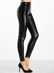 Leggings de PU - negro