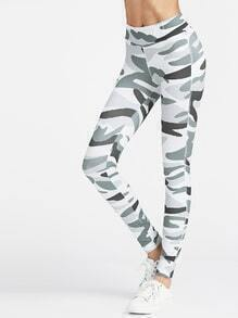 Leggings con estampado de camuflage