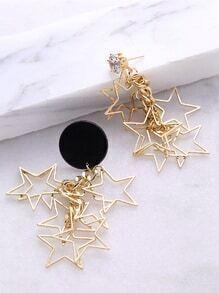 Pendientes en forma de estrella - dorado