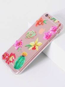 Flower Print Clear iPhone 6 Plus/6s Plus Plus Case