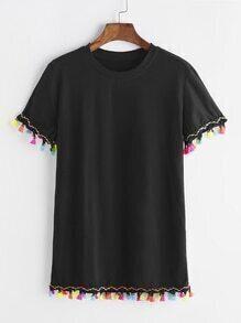 Farbe Tassel T-Shirt