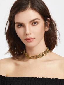 Gold Triangle Statement Choker