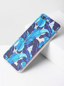 Blue Tropical Print iPhone 7 Plus Case