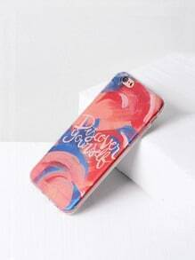 Letter Print Watercolor Design iPhone 6/6s Case