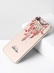Clear Dreamcatcher Print iPhone 7 Plus Case